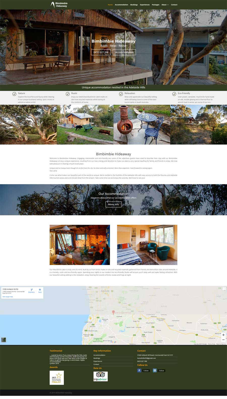 Website Design McLaren Flat - Accommodation