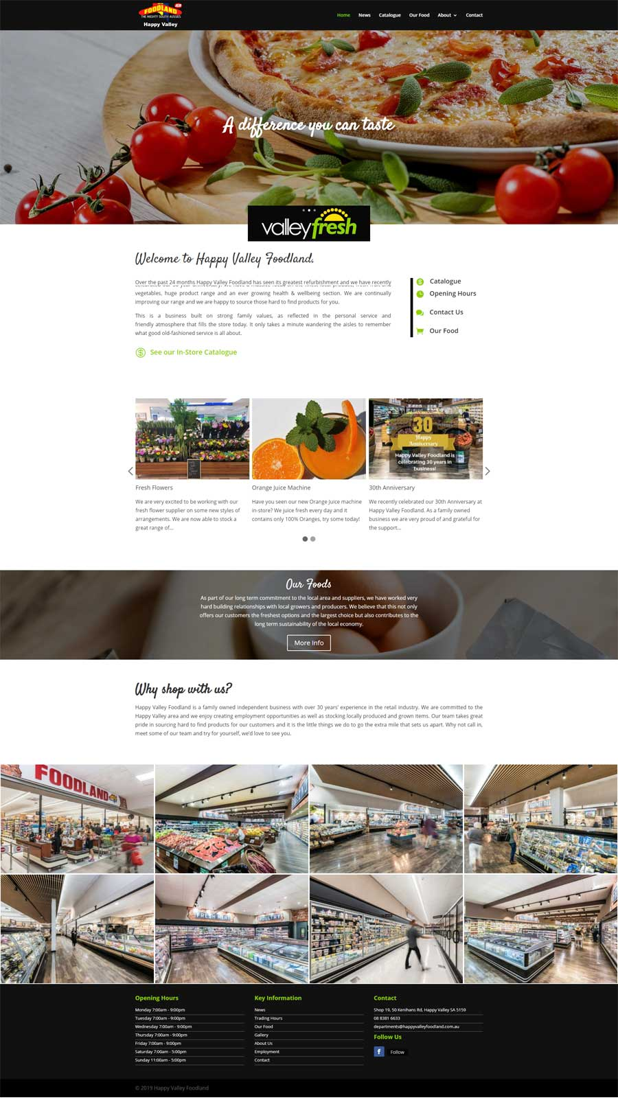 Website Design Melrose Park - Supermarkets