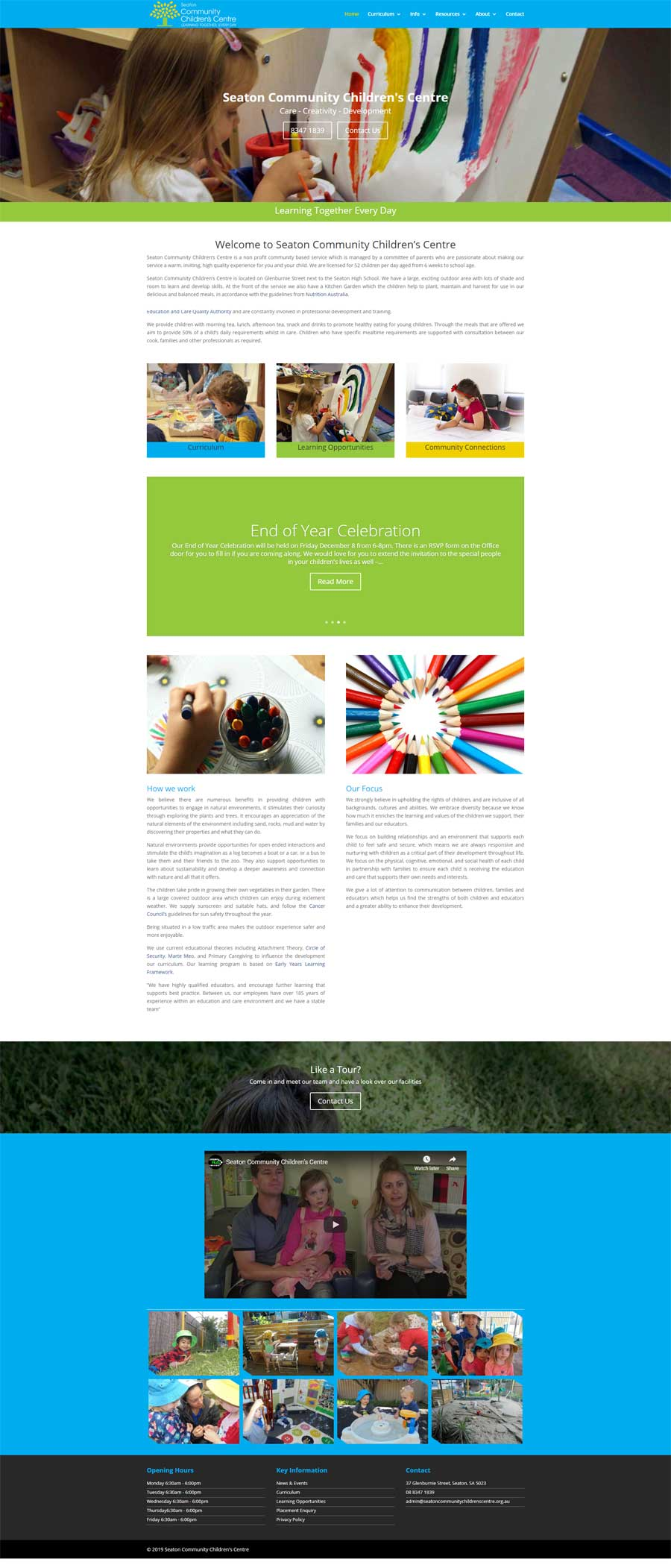 Website Design Melrose Park - Child Care