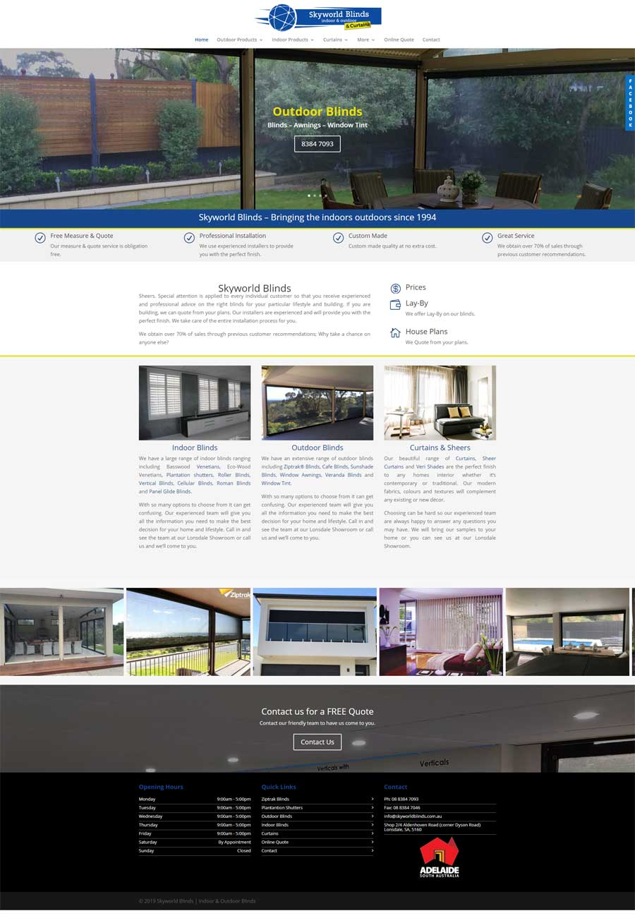 Website Design Goolwa - Home