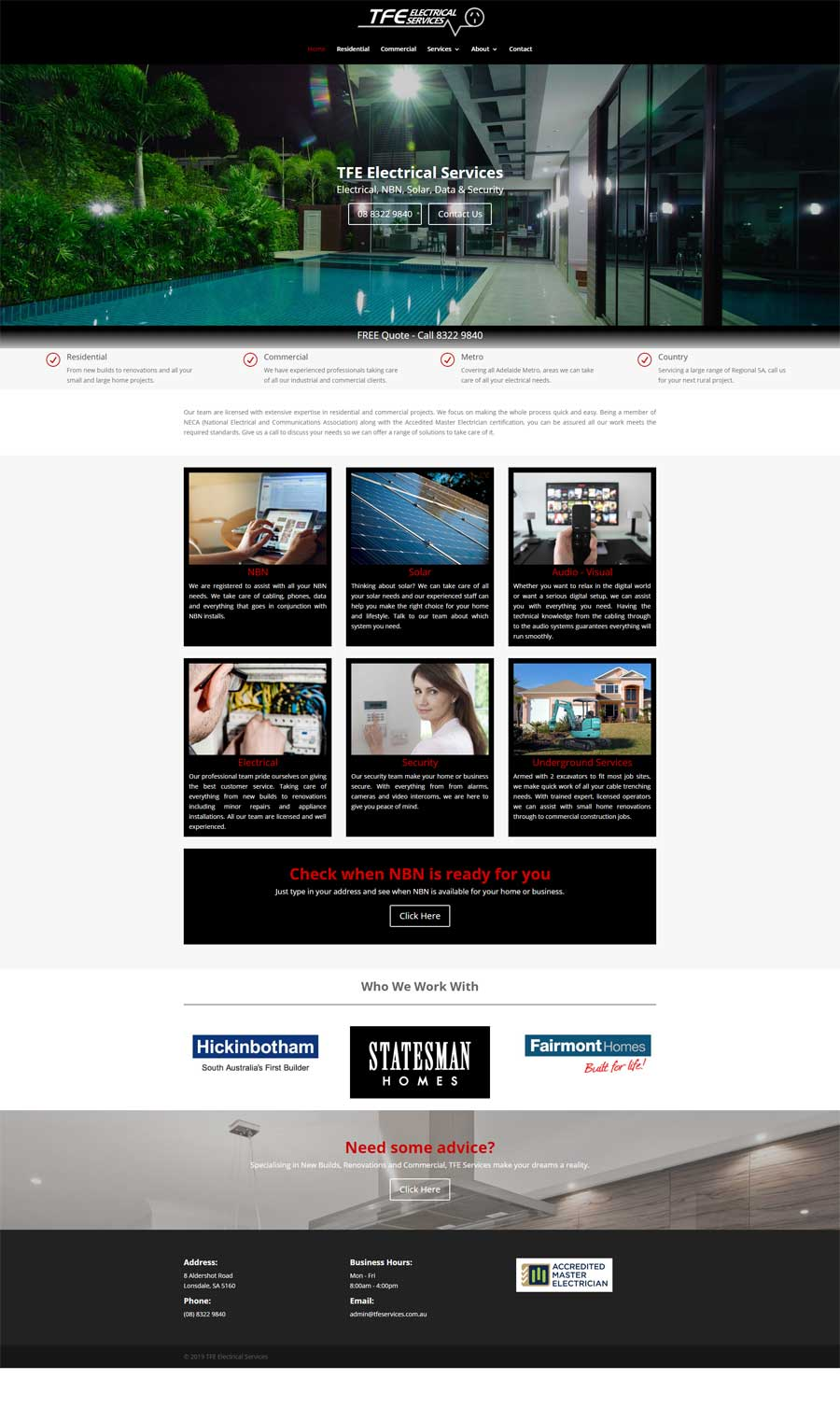 Website Design Melrose Park - Tradies