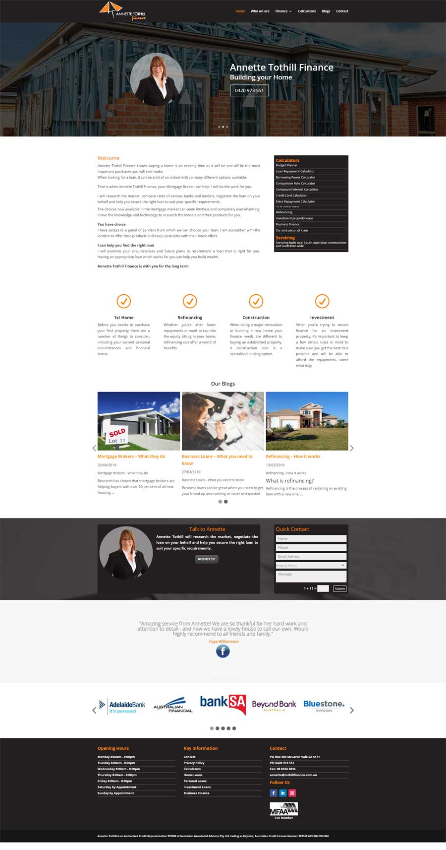 Website Design McLaren Vale - Finance